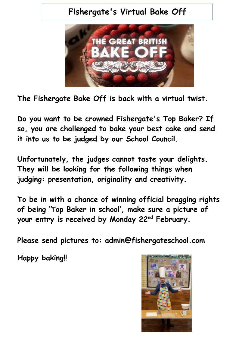 Virtual Bake Off - entry deadline!